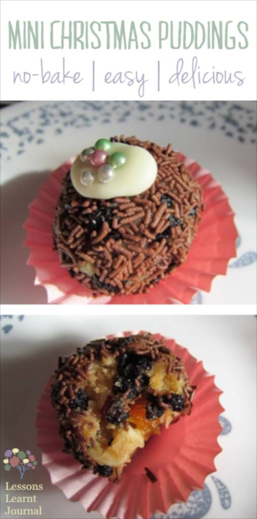 No Bake Recipes: Mini Christmas Puddings via Lessons Learnt Journal