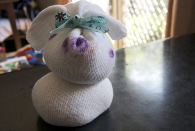 Craft: Sock Bunny