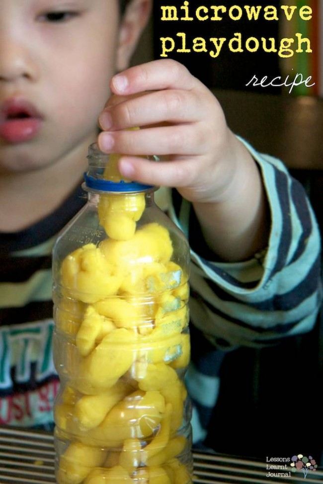 Microwave Playdough Recipe via Lessons Learnt Journal (1)