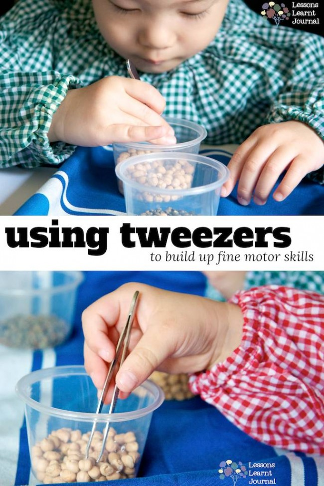 fine motor skills using tweezers via Lessons Learnt Journal (1)