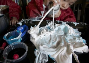 coloured shaving cream car wash via Lessons Learnt Journal