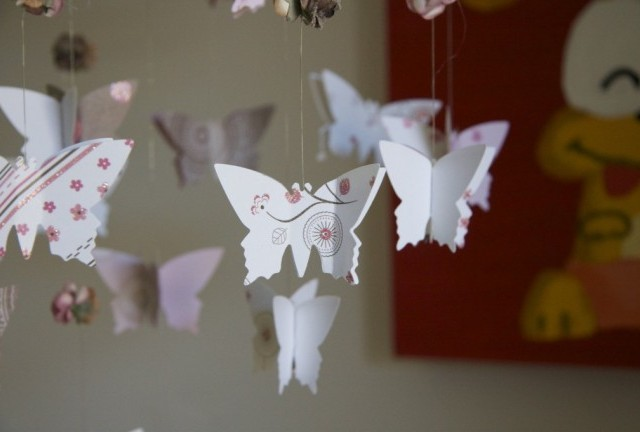 DIY Butterfly & Roses Chandelier