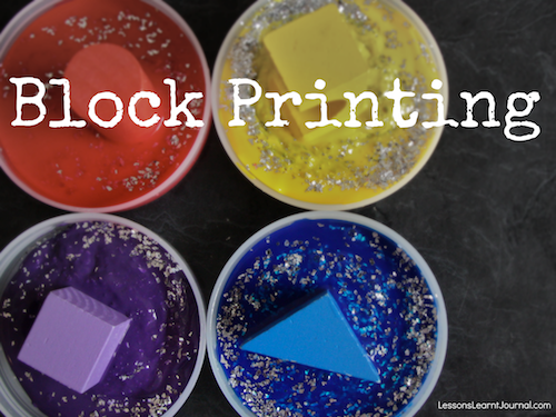 Art for Toddlers: Block Printing