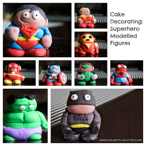 Cake Decorating Figures : Cake Decorating: Superhero Modelled Figures