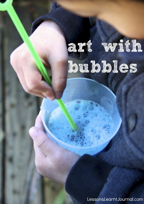 Add some colour to the bubbles and make some beautiful easy art.