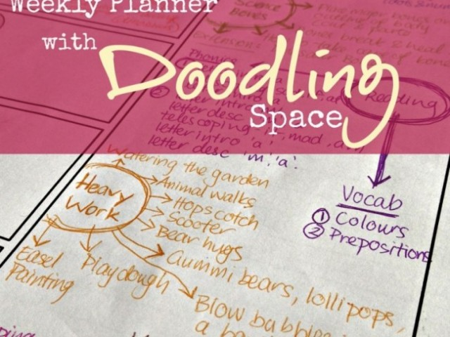 Printable Weekly Planner with Doodling Space