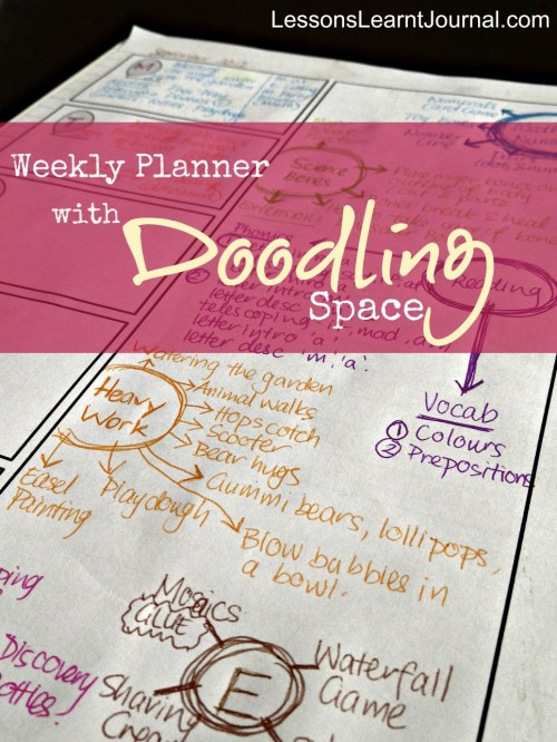 Printable Weekly Planner with Doodling Space 01 LessonsLearntJournal