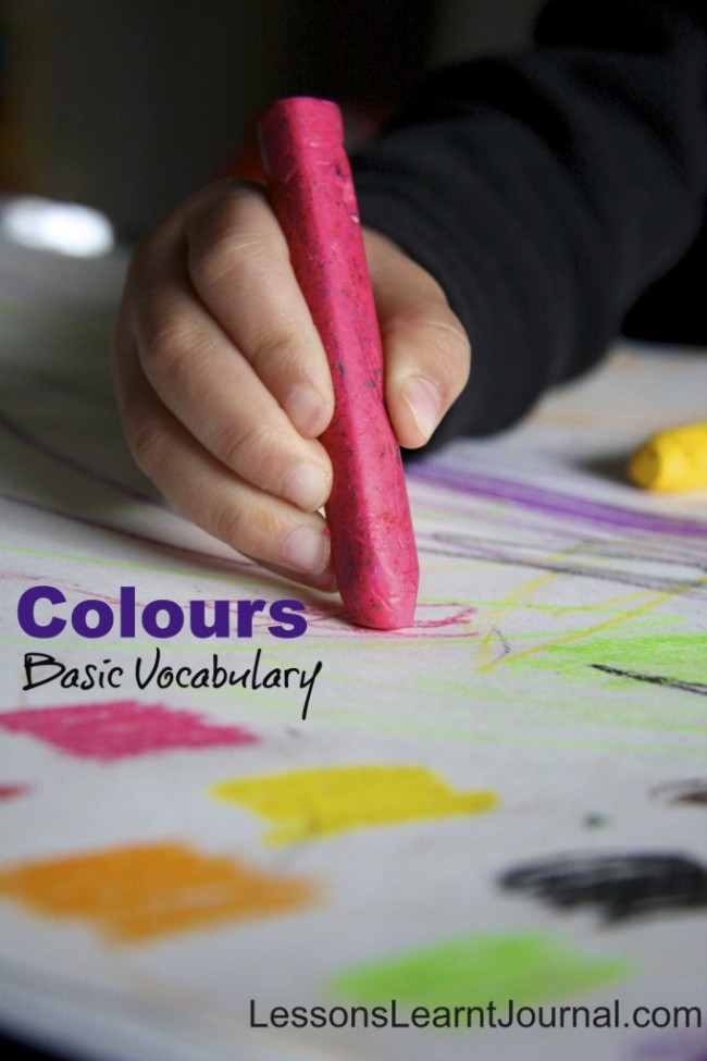 Colours Vocabulary LessonsLearntJournal