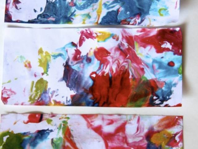 Marbled Paper with Shaving Cream