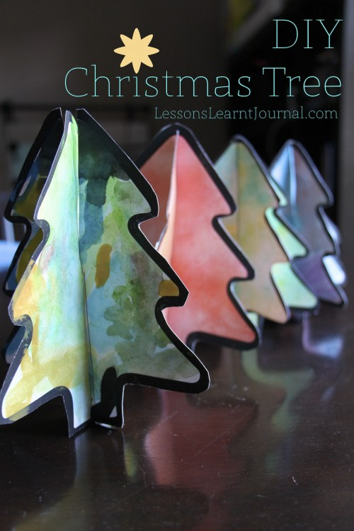 DIY Christmas Tree via Lessons Learnt Journal