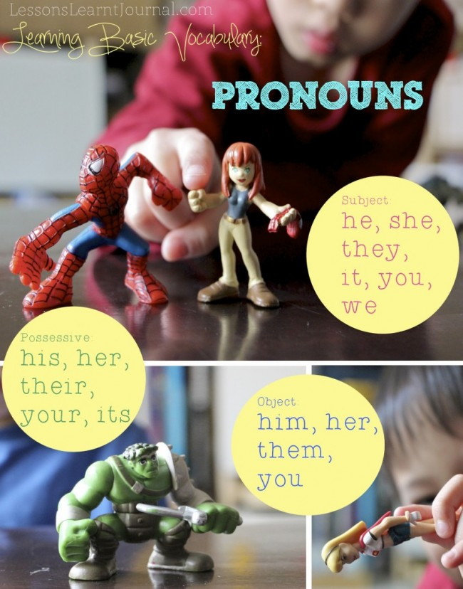 Pronouns Vocabulary for Beginning Readers LessonsLearntJournal 02