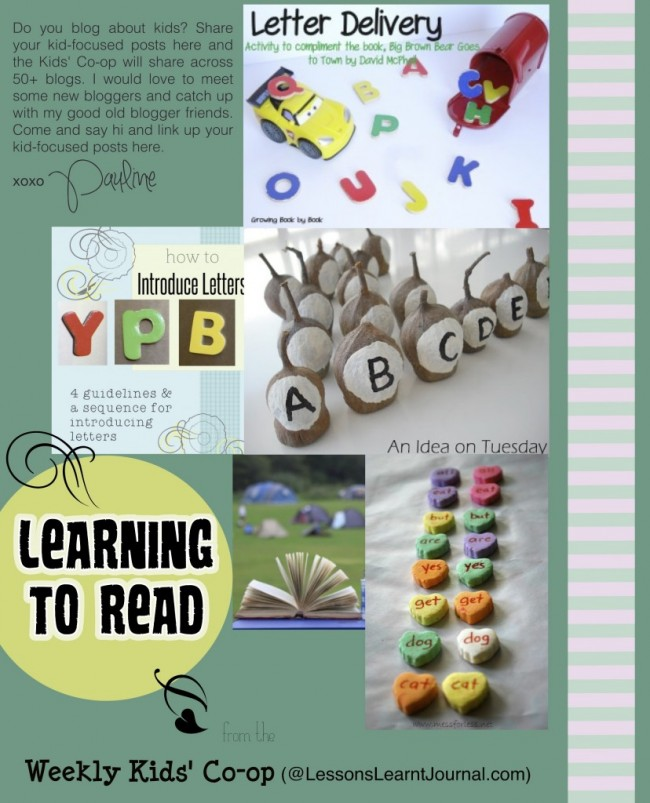 Learning to Read Weekly Kids CoOp LessonsLearntJournal