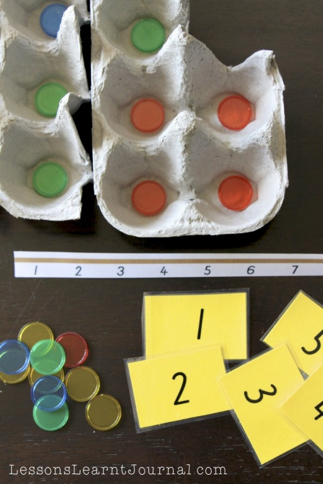 Math Games Counting Egg Cartons LessonsLearntJournal 03