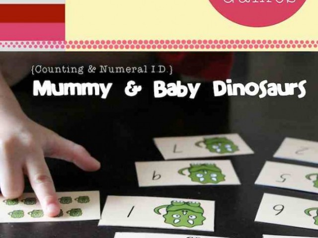 Math Games: Numeral Identification & Counting, Dinosaurs