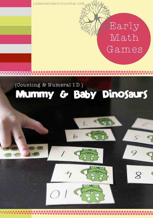 Math Games Counting Numeral Identification Dinosaurs Lessons Learnt Journal (2)