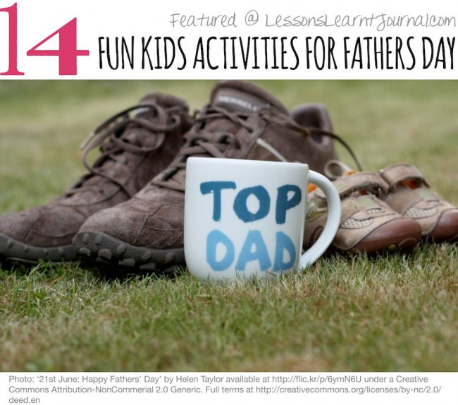 Activities for Children Fathers Day Lessons Learnt Journal (1)
