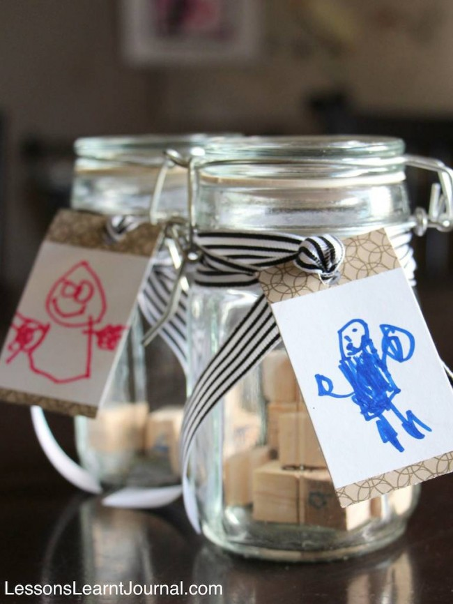Fathers Day Kids Craft Secret Message in a Bottle Lessons Learnt Journal