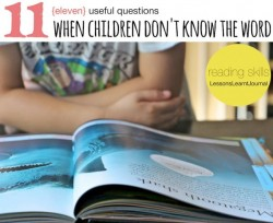 Reading When Children Don't Know The Word Lessons Learnt Journal (1)