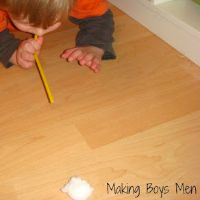 Cotton Ball Quick Fun by Making Boys Men