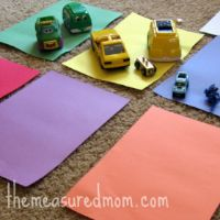 8 Preschool Math Ideas Using Toy Vehicles by The Measured Mom