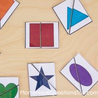 2 Part Shape Puzzles by Moms Have Questions Too