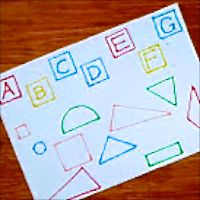 Shape Matching Puzzle by Adventures at home with Mum