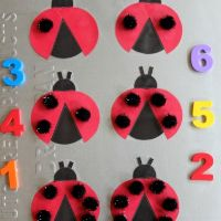 Ladybug Counting Game by B-Inspired Mama