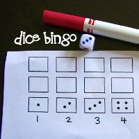 Dice Bingo - Subitising by Lessons Learnt Journal
