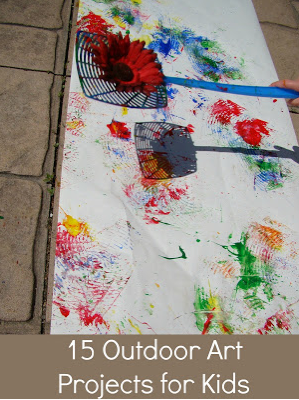 Reading Confetti: Outdoor Art Activities