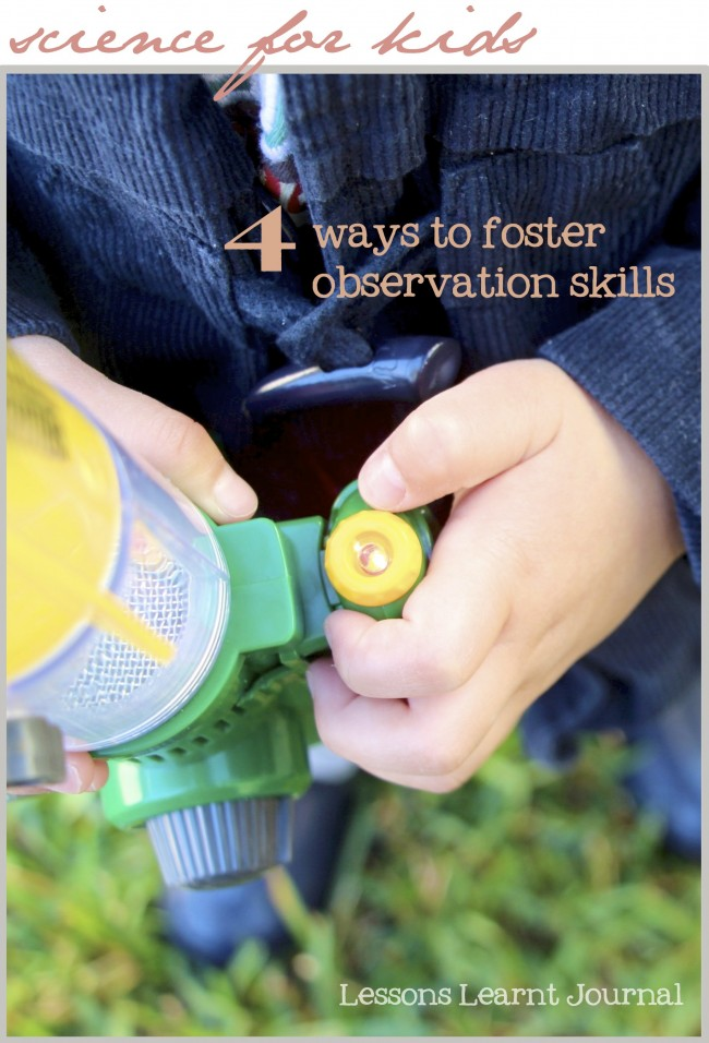 Observation Science for Kids Lessons Learnt Journal