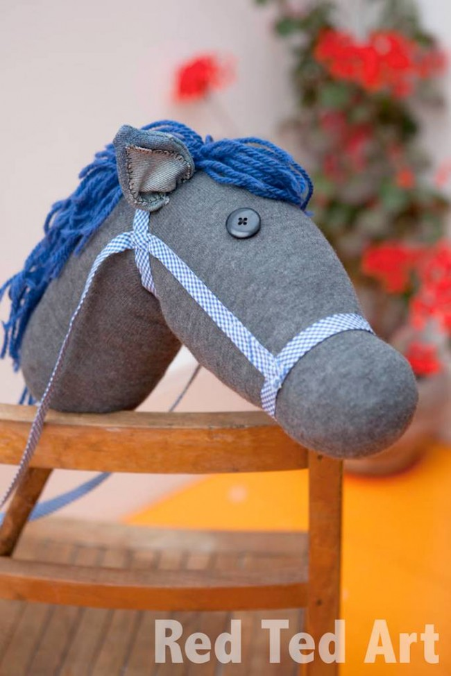 Red Ted Art Hobby Horse