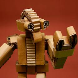 Cardboard Articulated Robot by Cardboardmyth on Etsy