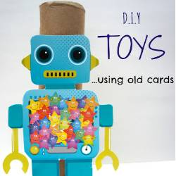 DIY Toys using old cards by Laughing Kids Learn