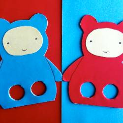 Teddy Bear, Teddy Bear Finger Leg Puppets by We Bloom Here