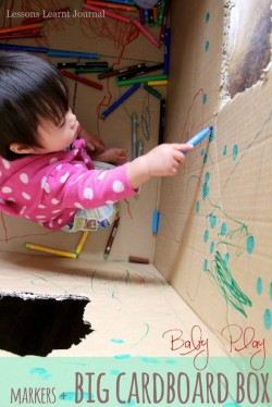 Baby Play Big Cardboard Box via Lessons Learnt Journal (1)