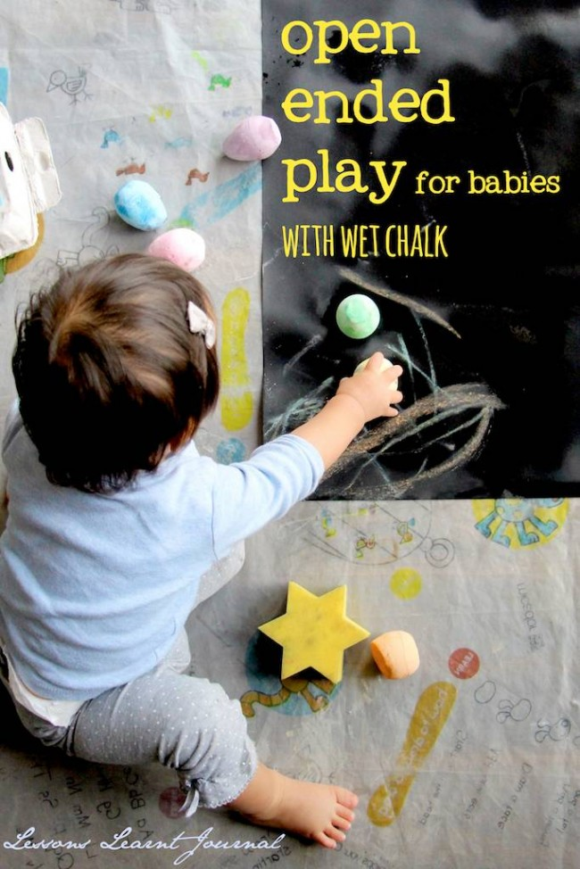 Baby Play Open Ended Play with Wet Chalk Lessons Learnt Journal (1)
