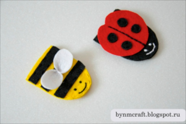 Felt Finger Puppet Insects by Handmade by NM