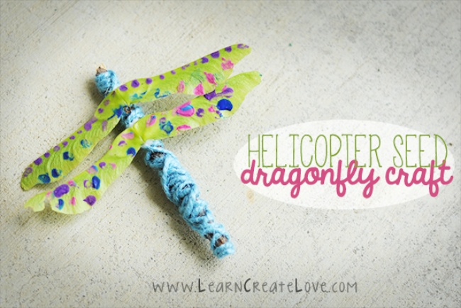 Helicopter Seed Dragonfly Craft by Learn Create Love via Housing A Forest