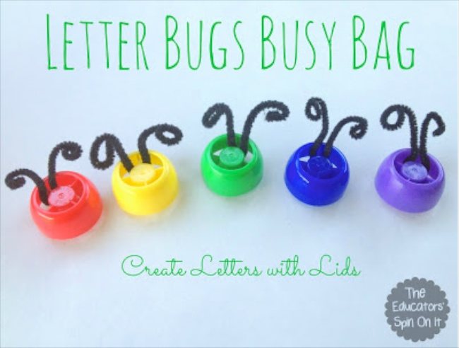 Letter Bugs Busy Bag by The Educators Spin On It