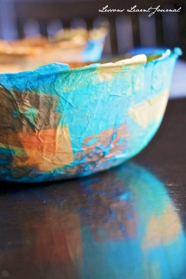 Paper Crafts DIY Paper Mache Bowls via Lessons Learnt Journal 10 (1)