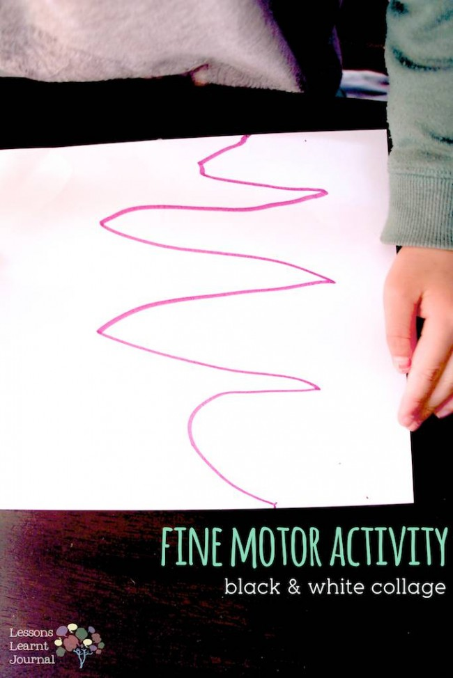 Fine Motor Activities Black & White Collage via Lessons Learnt Journal 08 (1)