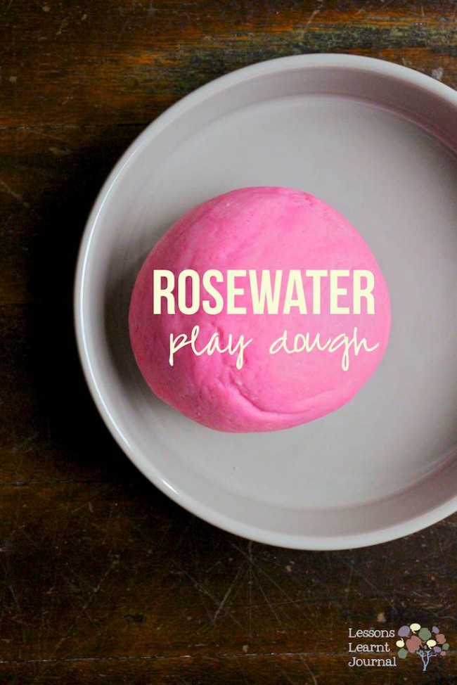Rosewater Playd Dough Recipe via Lessons Learnt Journal (1)