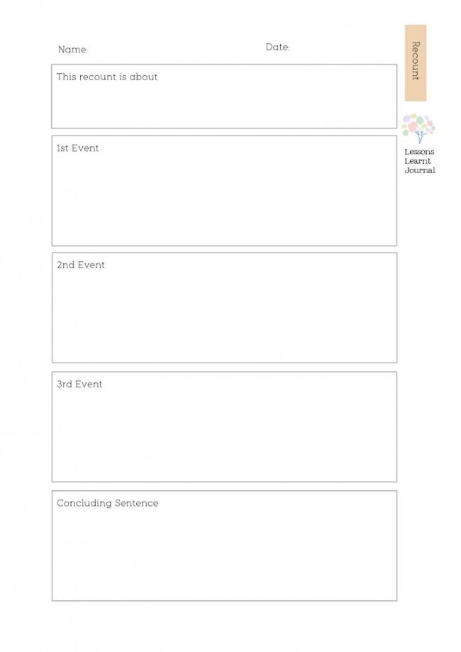 Writing Activities Journal Recount Planner via Lessons Learnt Journal (1)