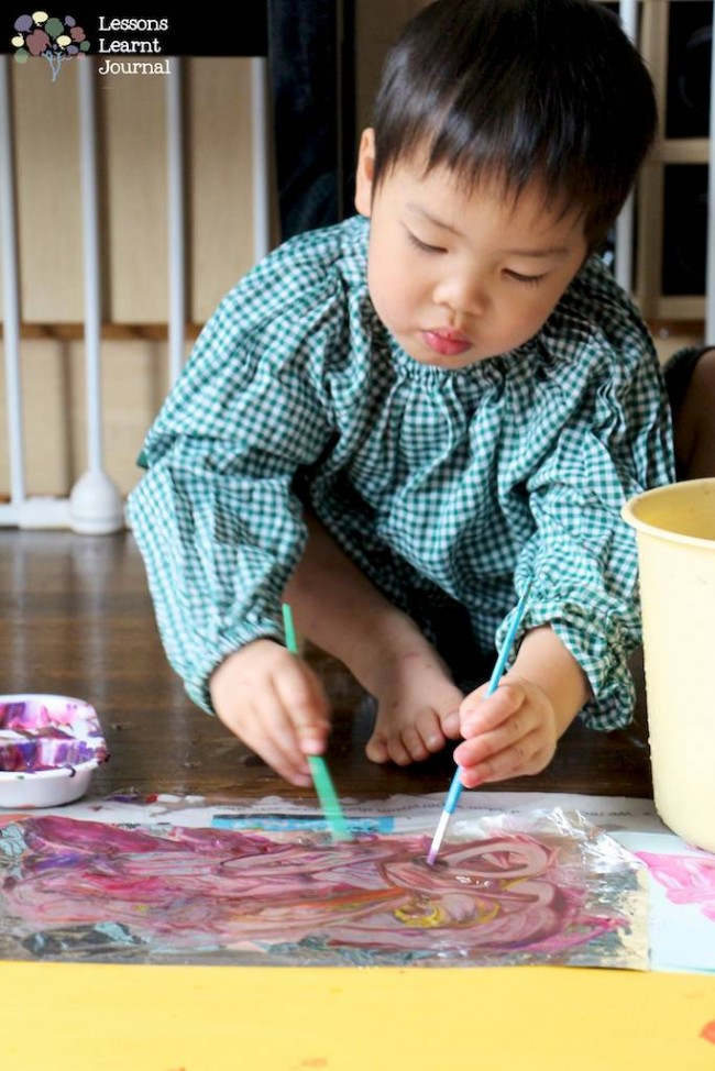 Art Projects for Kids Large Scale Painting via Lessons Learnt Journal 02