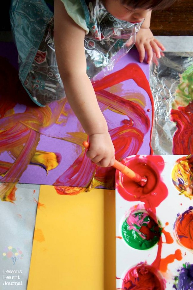 Art Projects for Kids Large Scale Painting via Lessons Learnt Journal 03