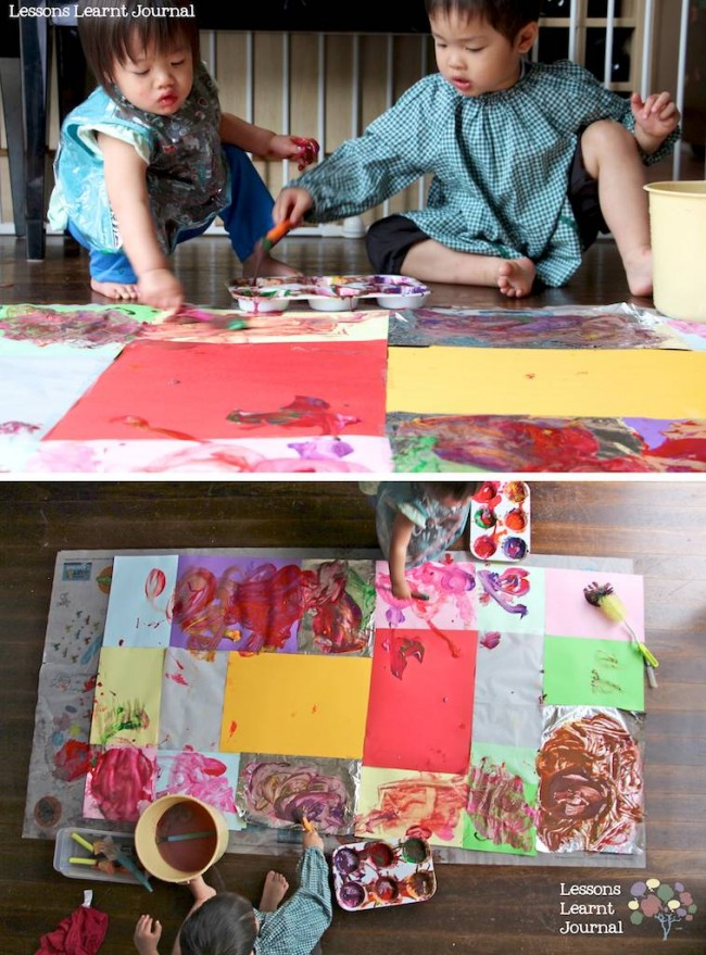 Art Projects for Kids Large Scale Painting via Lessons Learnt Journal 05
