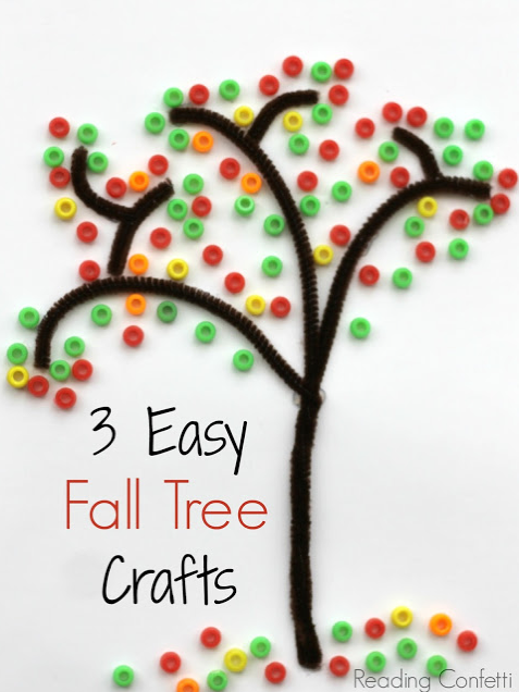 Easy Fall Tree Crafts via Reading Confetti