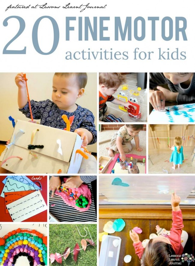 Fine Motor Activities for Kids via Lessons Learnt Journal