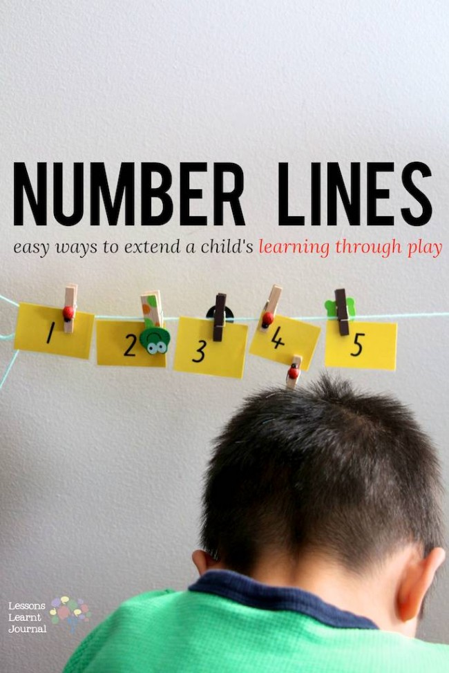 Math Games Number Lines via Lessons Learnt Journal