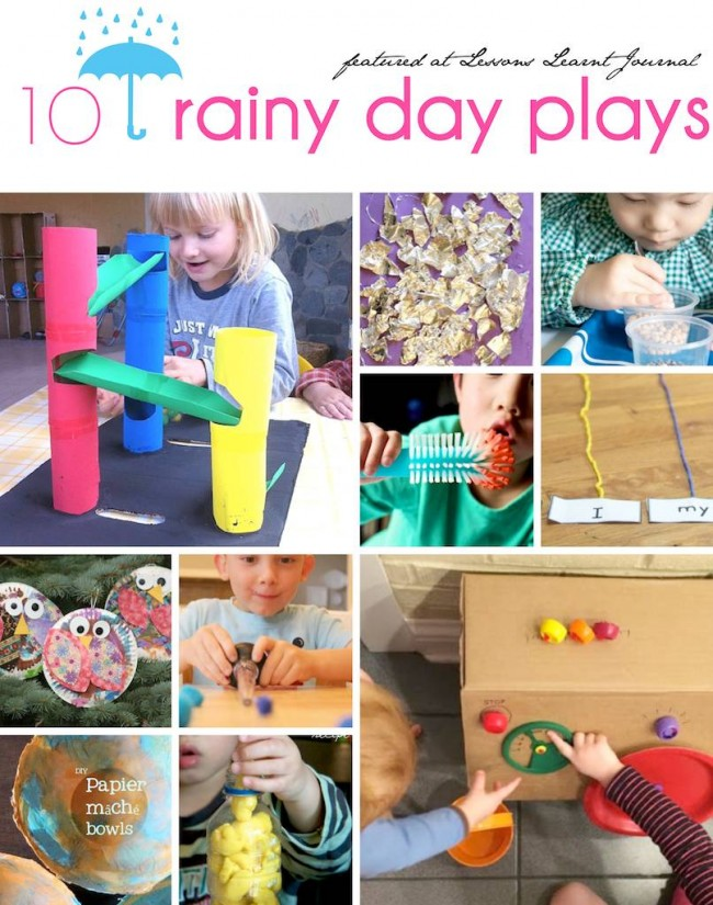 Rainy Day Plays via Lessons Learnt Journal